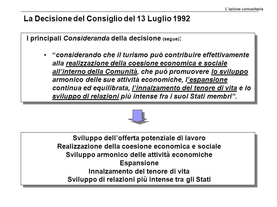 La Decisione del Consiglio del 13 Luglio 1992