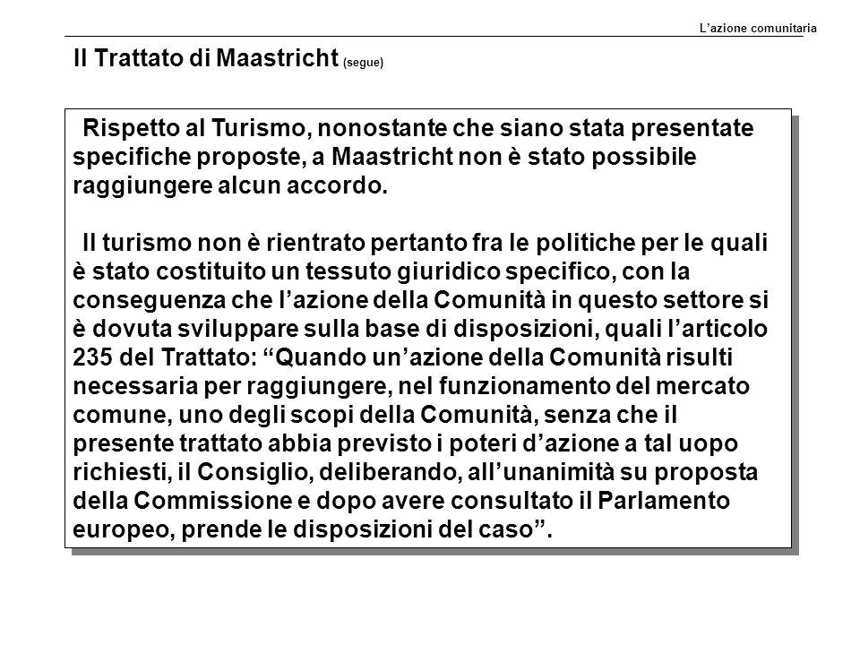 Il Trattato di Maastricht (segue)