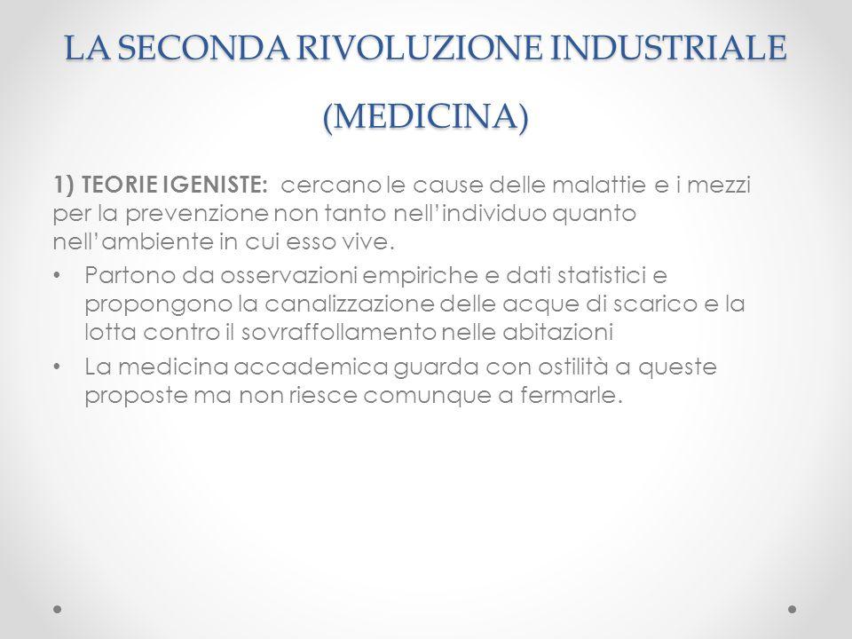 LA SECONDA RIVOLUZIONE INDUSTRIALE (MEDICINA)