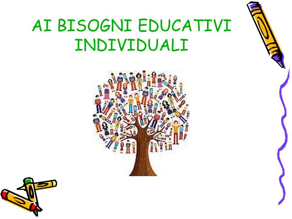 AI BISOGNI EDUCATIVI INDIVIDUALI