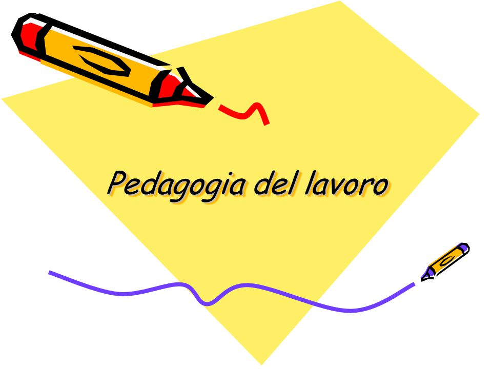 Pedagogia del lavoro
