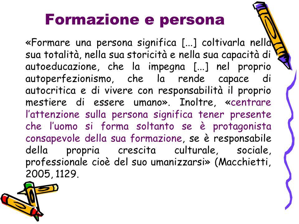 Formazione e persona