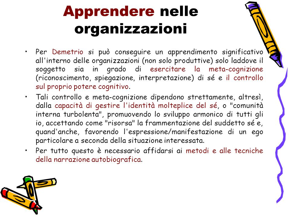 Apprendere nelle organizzazioni