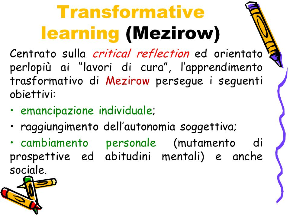 Transformative learning (Mezirow)