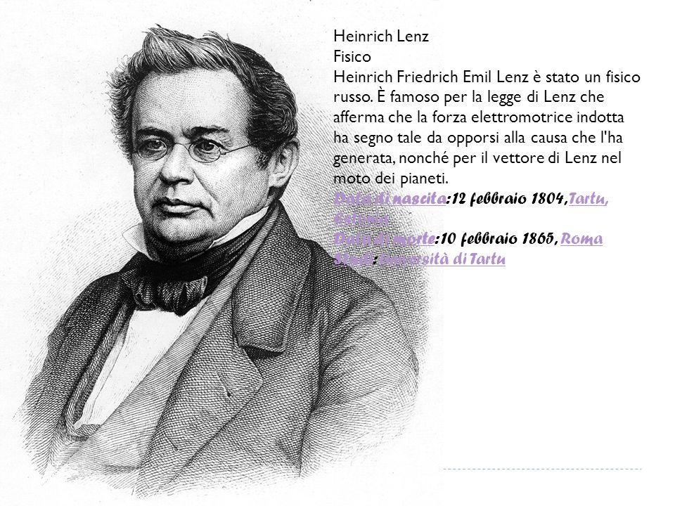 Heinrich Lenz Fisico.