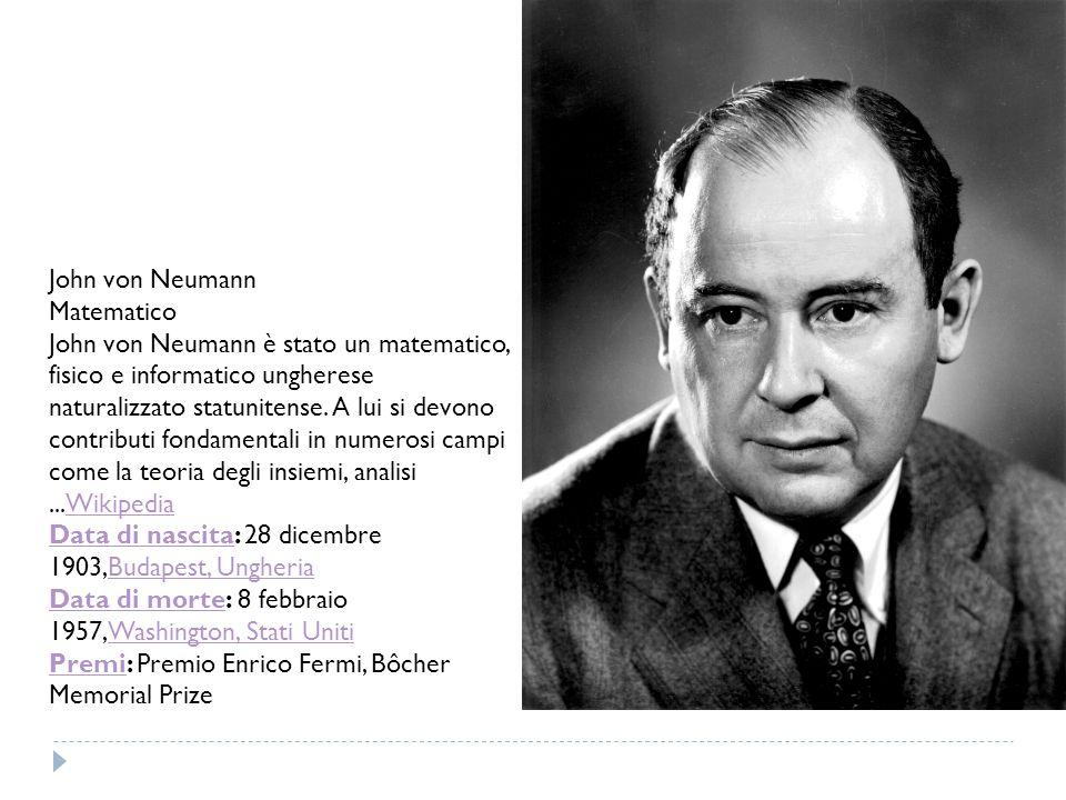 John von Neumann Matematico.