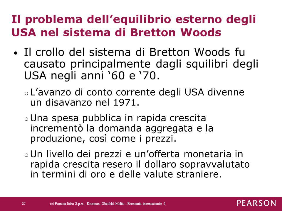 Il problema dell'equilibrio esterno degli USA nel sistema di Bretton Woods