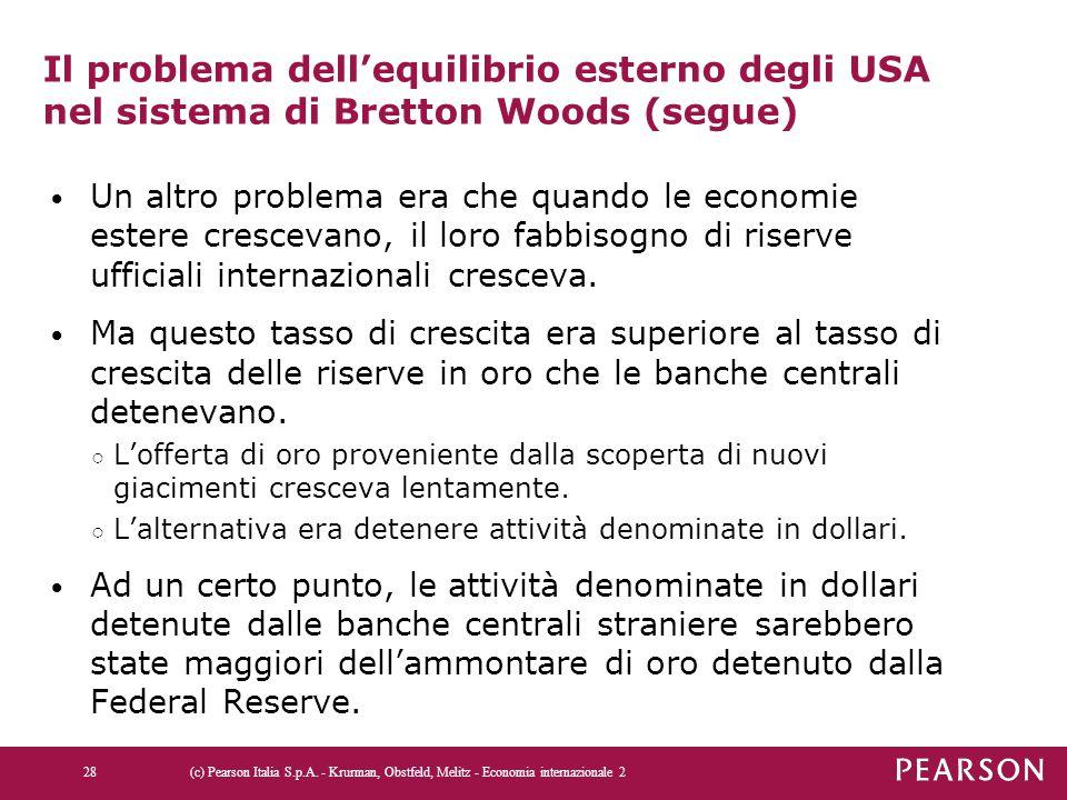 Il problema dell'equilibrio esterno degli USA nel sistema di Bretton Woods (segue)