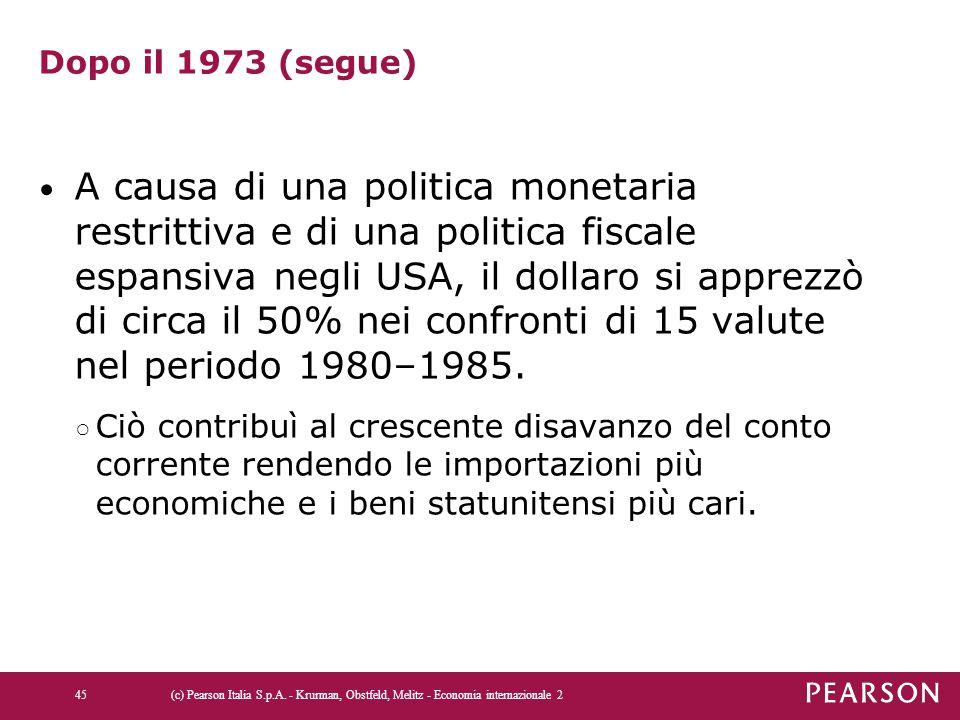 Dopo il 1973 (segue)