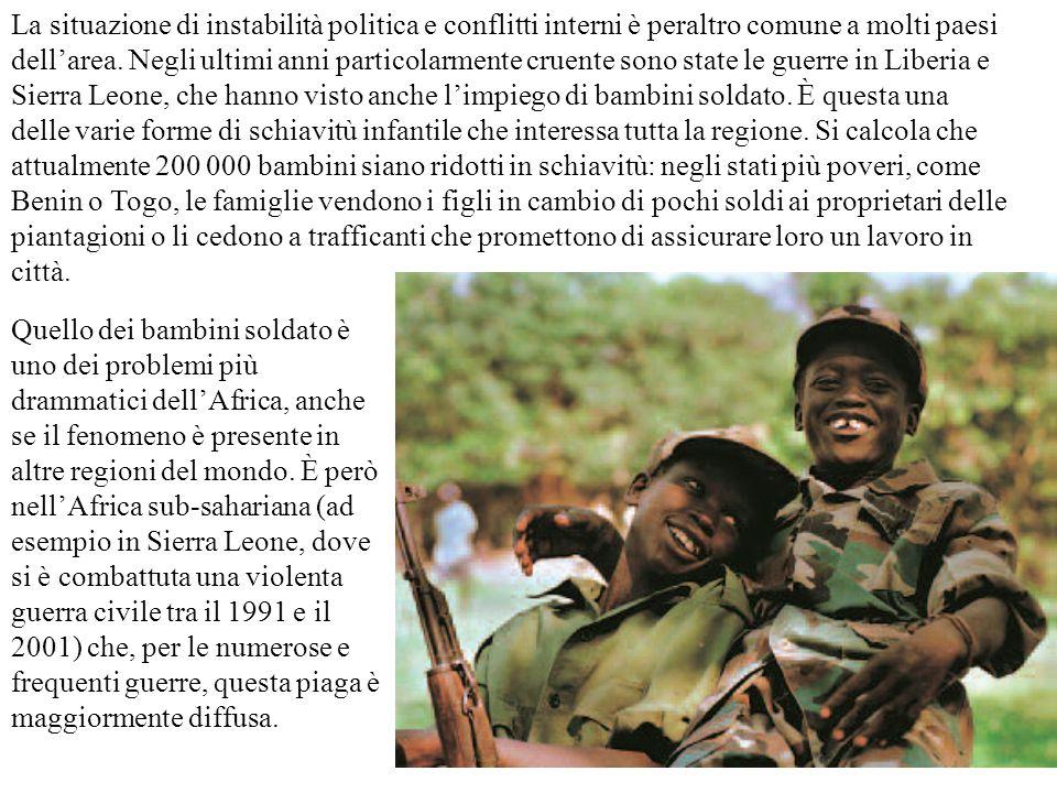 La situazione di instabilità politica e conflitti interni è peraltro comune a molti paesi
