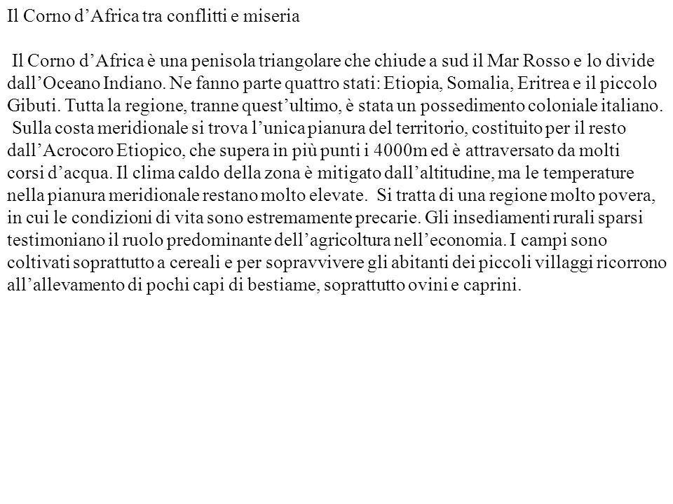 Il Corno d'Africa tra conflitti e miseria