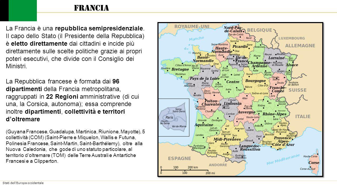 Francia La Francia è una repubblica semipresidenziale.