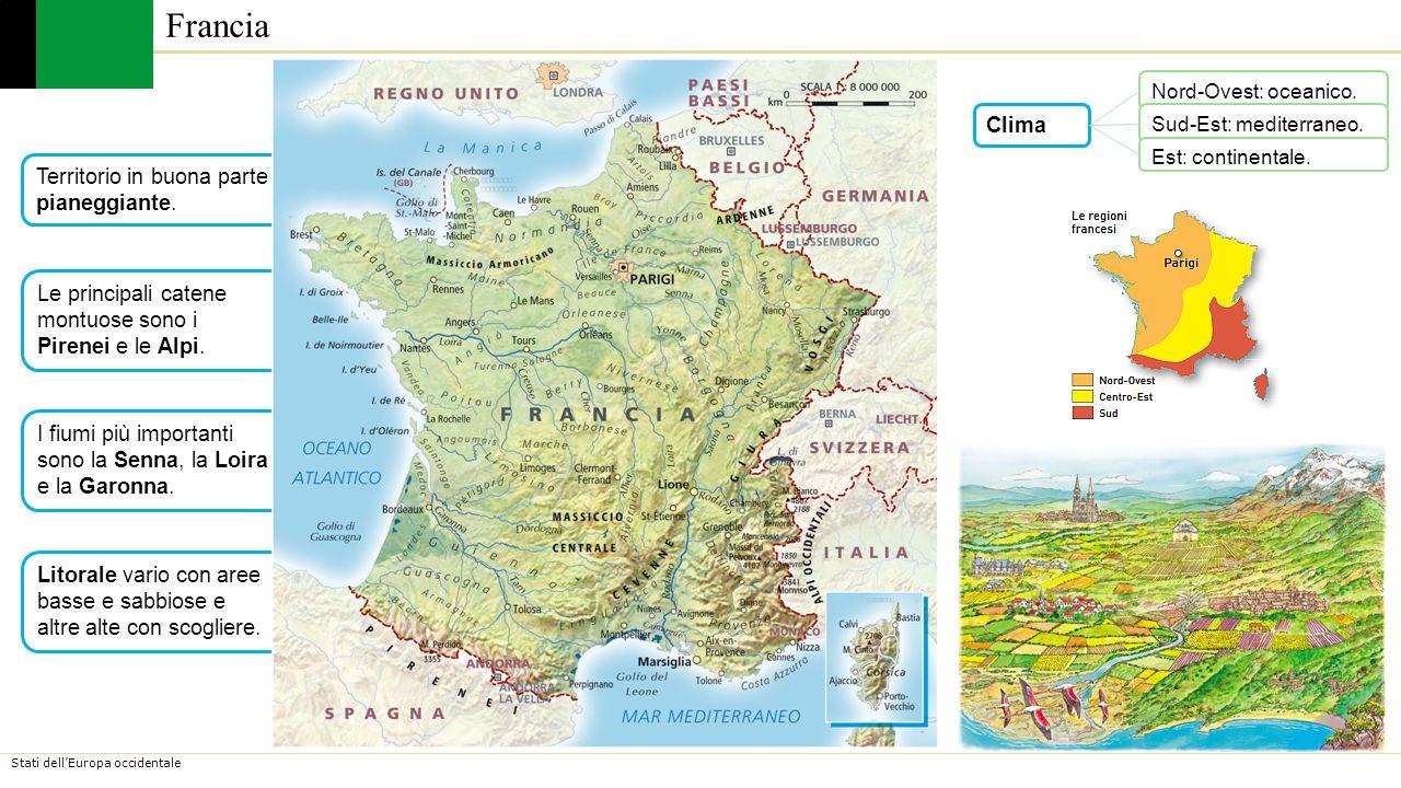 Francia Clima Territorio in buona parte pianeggiante.