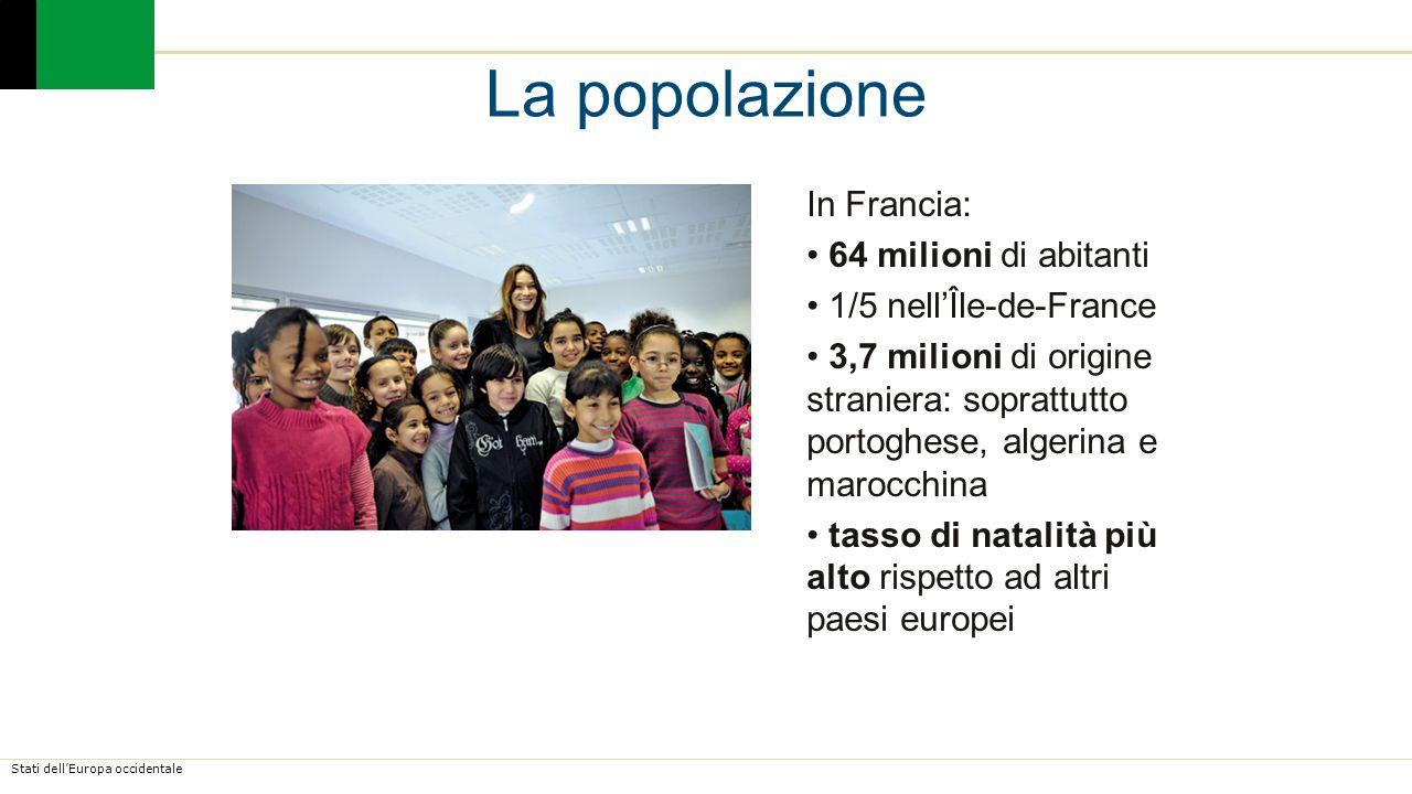 La popolazione In Francia: 64 milioni di abitanti