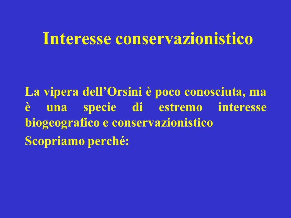 Interesse conservazionistico
