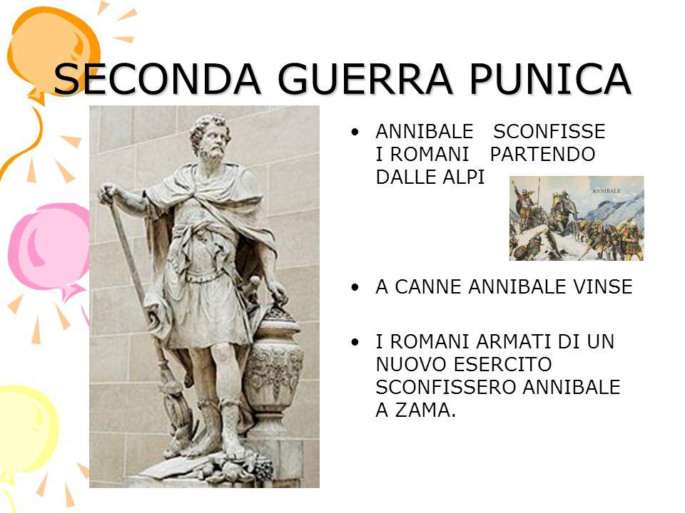 SECONDA GUERRA PUNICA ANNIBALE SCONFISSE I ROMANI PARTENDO DALLE ALPI