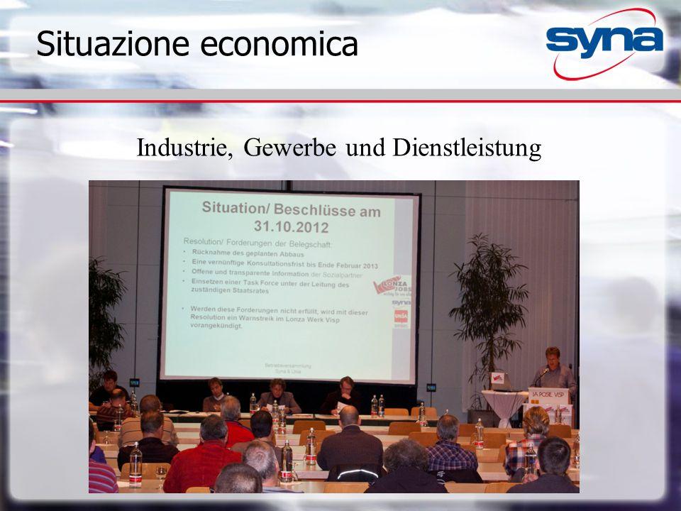 Situazione economica Industrie, Gewerbe und Dienstleistung