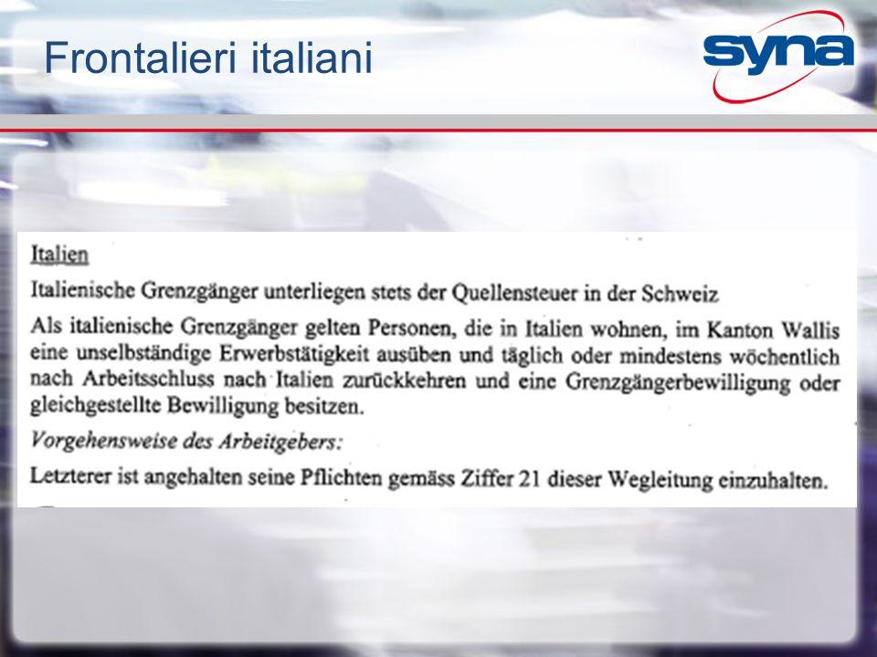 Frontalieri italiani