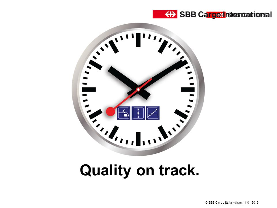 Quality on track. SBB • Division • Abteilung oder Bereich • DD.MM.YY