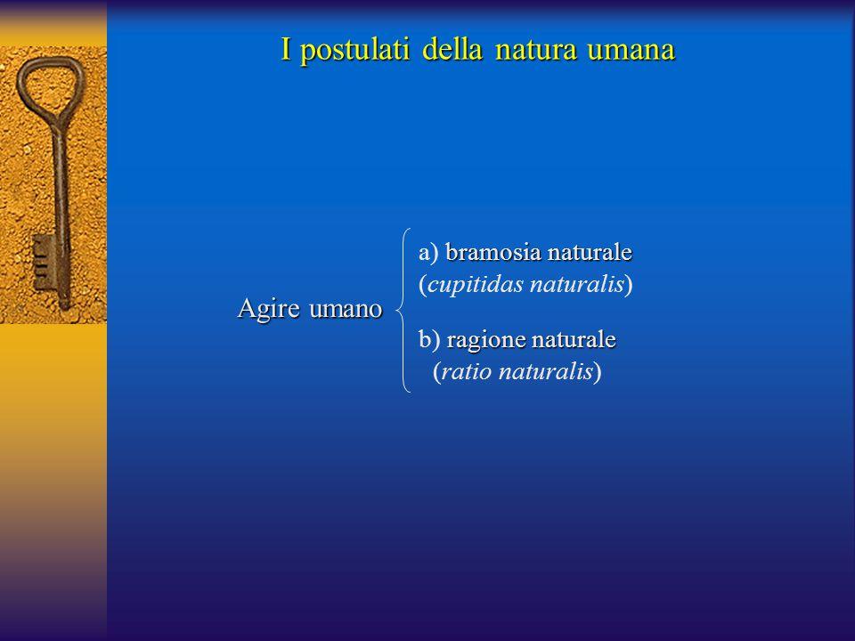 I postulati della natura umana