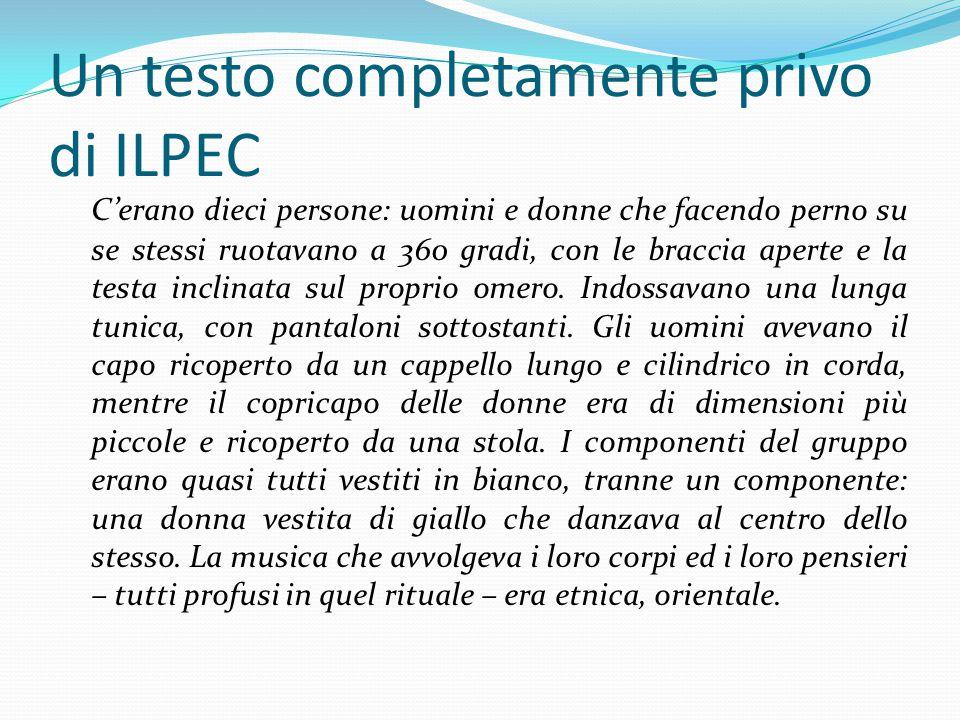 Un testo completamente privo di ILPEC