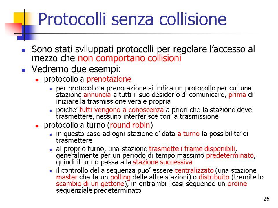 Protocolli senza collisione