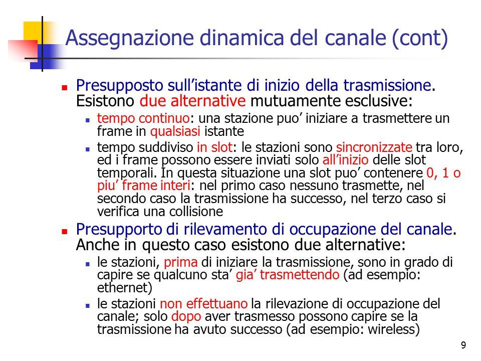 Assegnazione dinamica del canale (cont)