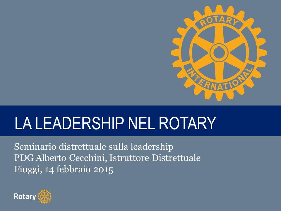LA LEADERSHIP NEL ROTARY