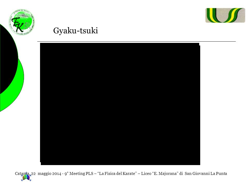 Gyaku-tsuki Catania, 22 maggio 2014 - 9° Meeting PLS – La Fisica del Karate – Liceo E.