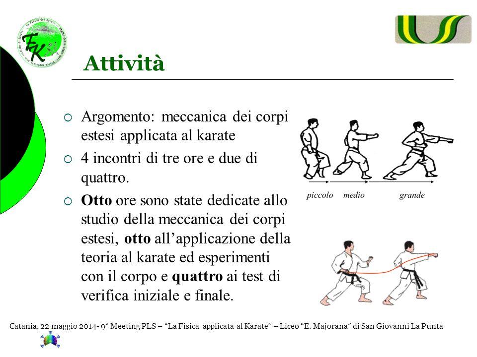 Attività Argomento: meccanica dei corpi estesi applicata al karate