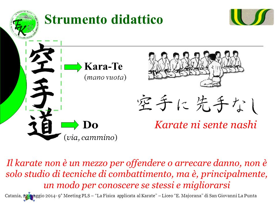 Strumento didattico Kara-Te Do Karate ni sente nashi