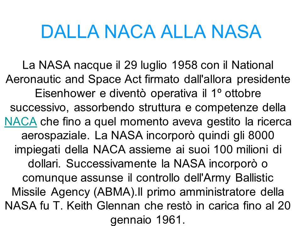 DALLA NACA ALLA NASA