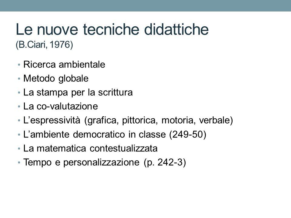 Le nuove tecniche didattiche (B.Ciari, 1976)