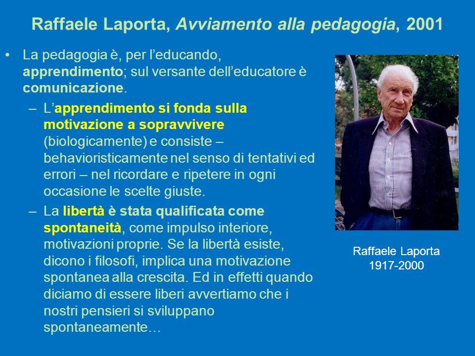 Raffaele Laporta, Avviamento alla pedagogia, 2001
