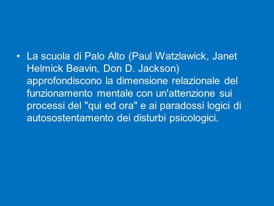 La scuola di Palo Alto (Paul Watzlawick, Janet Helmick Beavin, Don D
