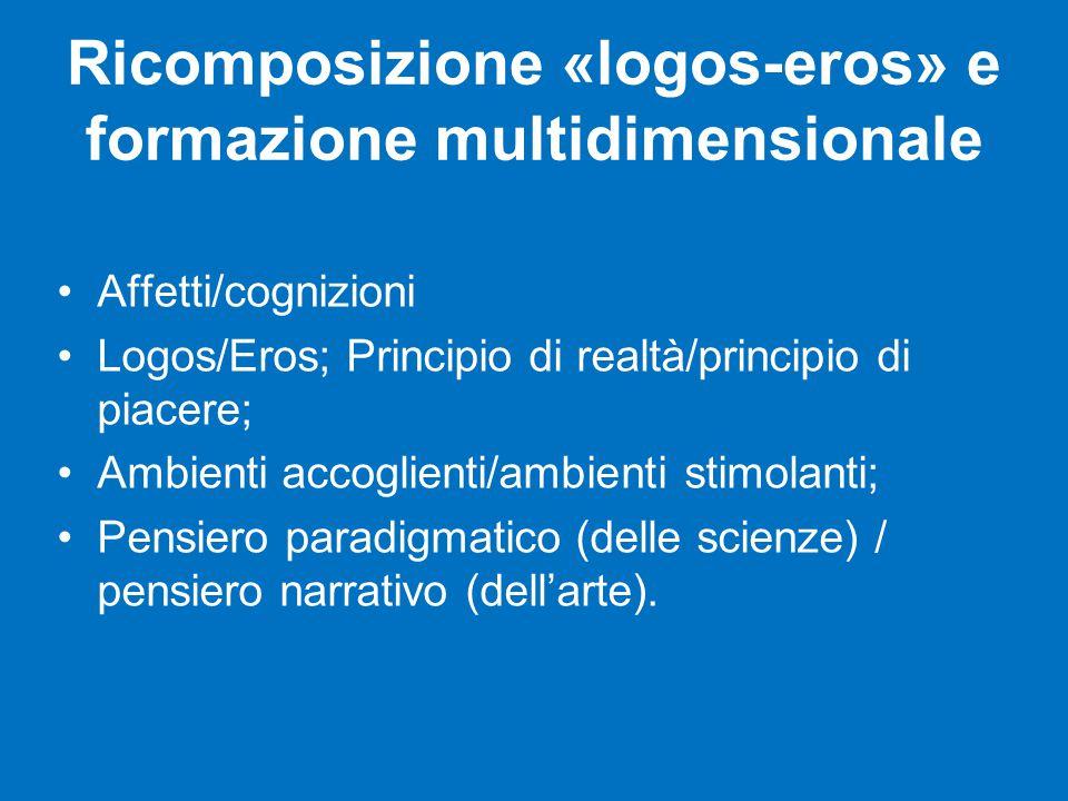 Ricomposizione «logos-eros» e formazione multidimensionale