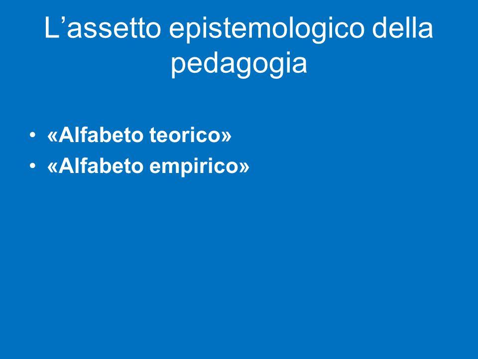 L'assetto epistemologico della pedagogia