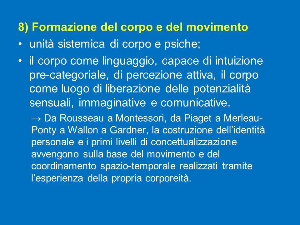 8) Formazione del corpo e del movimento
