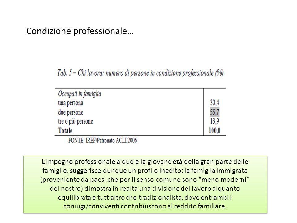Condizione professionale…