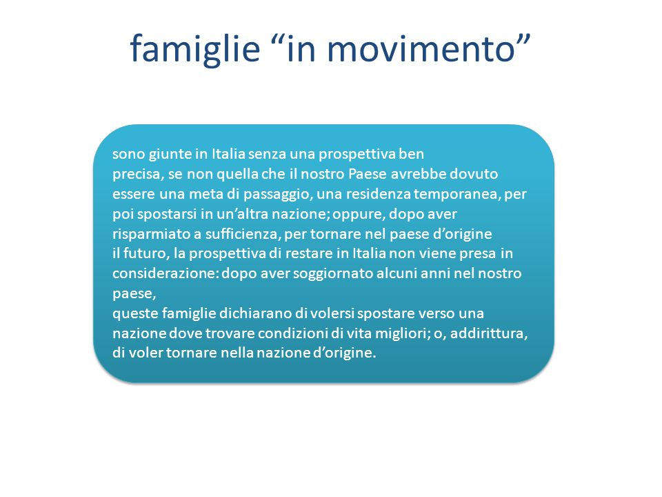 famiglie in movimento
