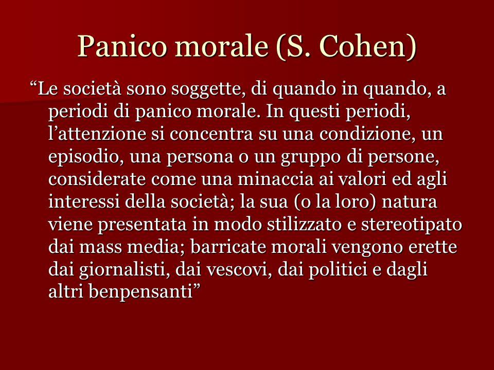 Panico morale (S. Cohen)