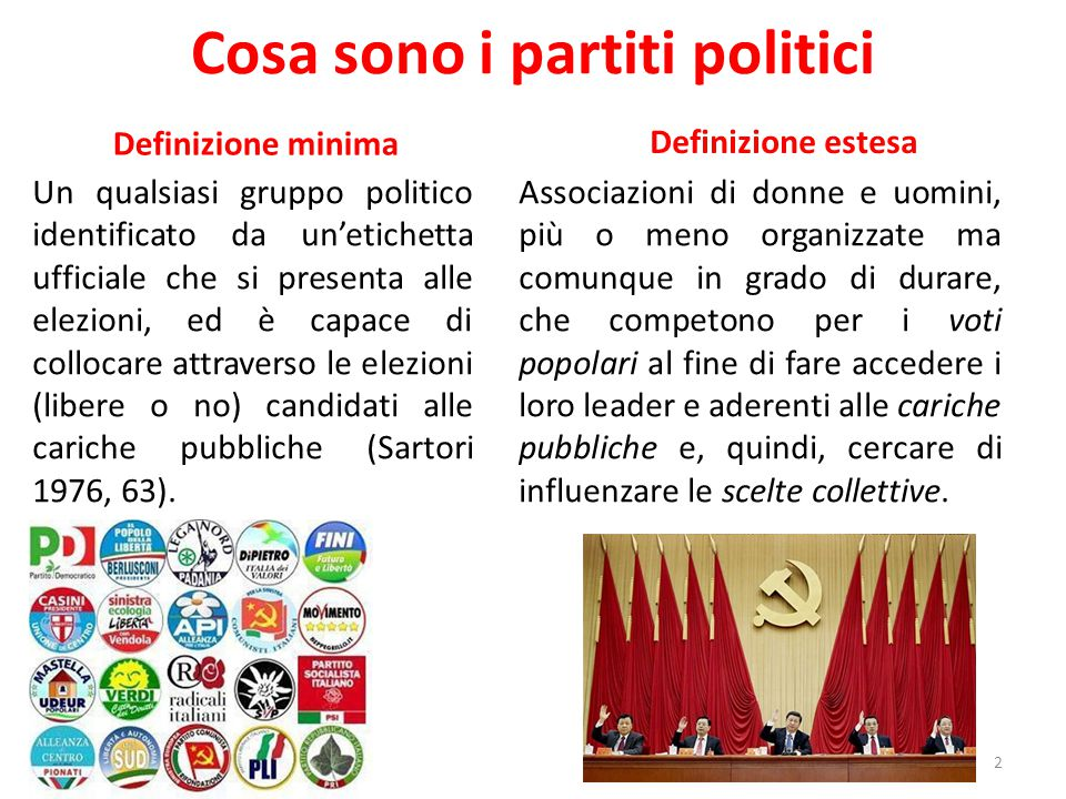 Cosa sono i partiti politici