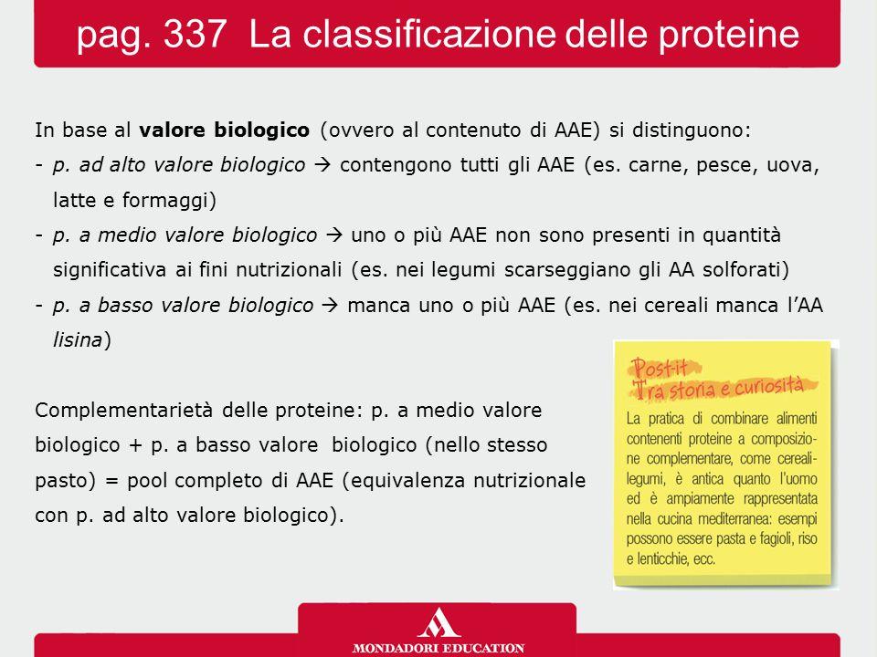pag. 337 La classificazione delle proteine