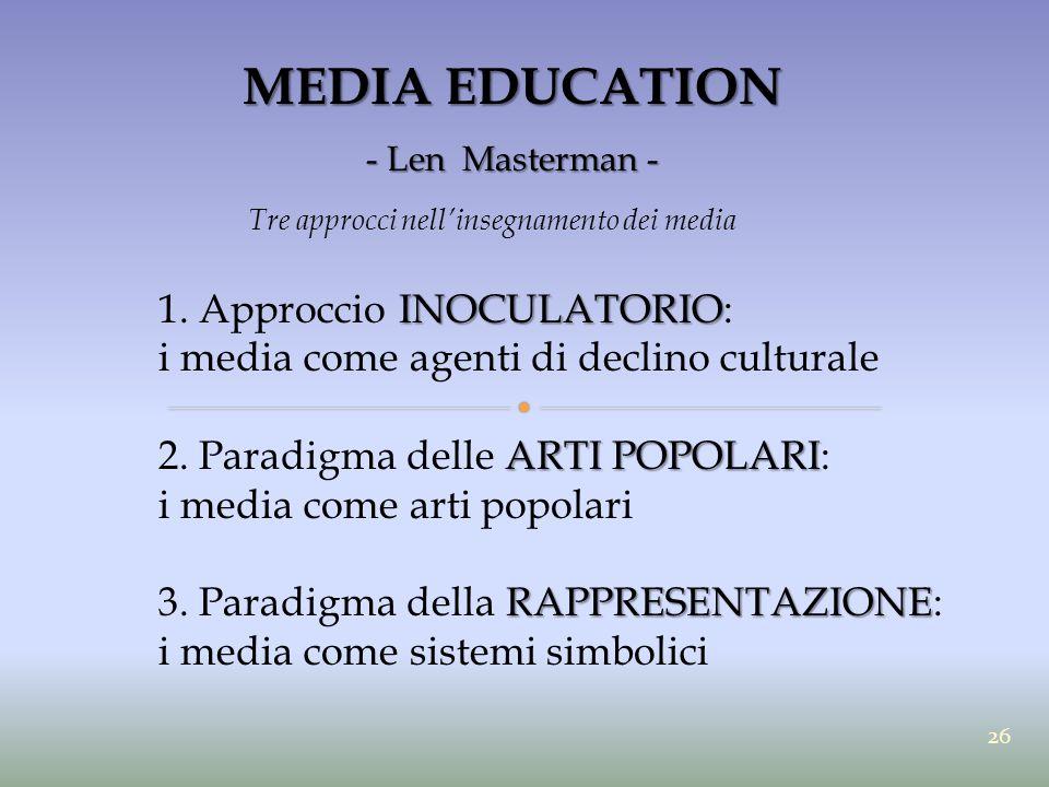 Tre approcci nell'insegnamento dei media