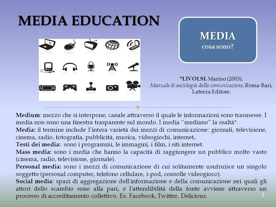 Manuale di sociologia della comunicazione, Roma-Bari, Laterza Editore.