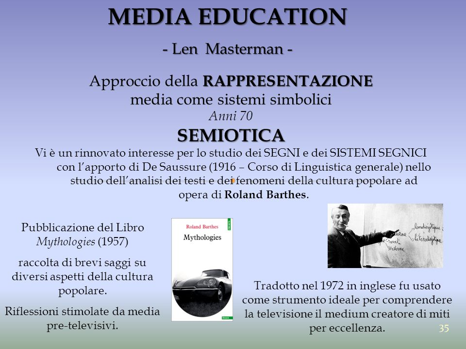 MEDIA EDUCATION SEMIOTICA - Len Masterman -