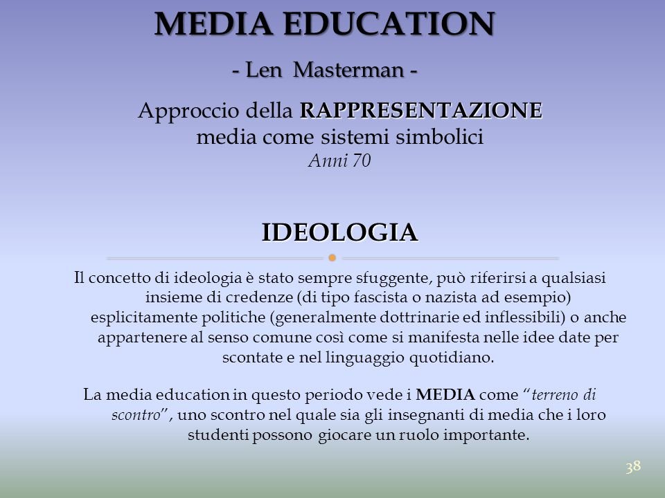 MEDIA EDUCATION IDEOLOGIA - Len Masterman -