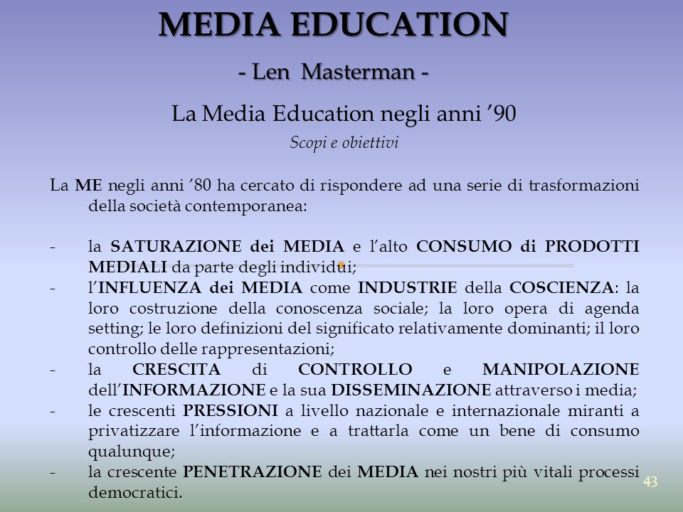La Media Education negli anni '90