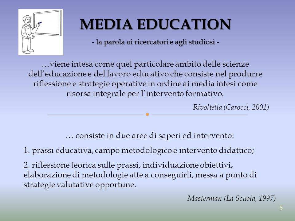 MEDIA EDUCATION - la parola ai ricercatori e agli studiosi -