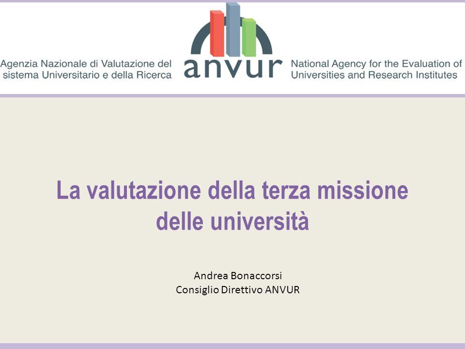 La valutazione della terza missione delle università